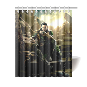 Loki Tom Hiddleston Shower Curtain Is Waterproof Polyester Fabric