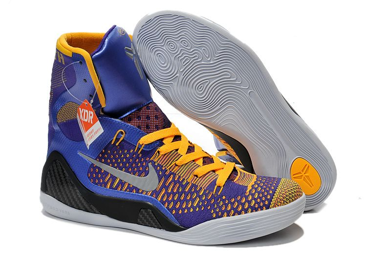 cheap nike kobe 9 lakers yellow purple