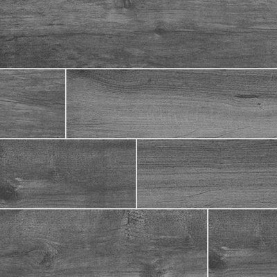 Msi Palmetto Smoke 6 X 36 Porcelain Wood Look Tile In Gray