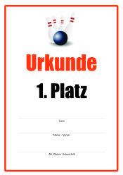 Urkunde Bowling | Urkunden-Sport | Urkunden | Pinterest