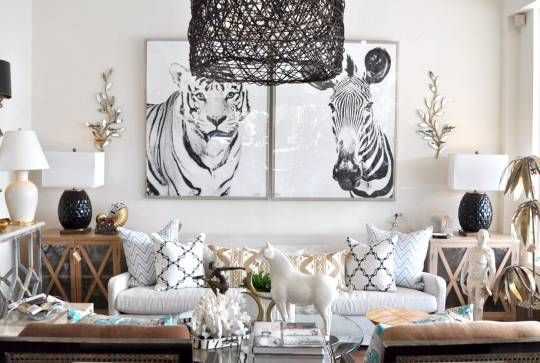 Black and White Tiger Photograph - Mecox Gardens