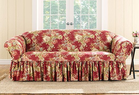 Ballad Bouquet By Waverly One Piece Chair Slipcover Big