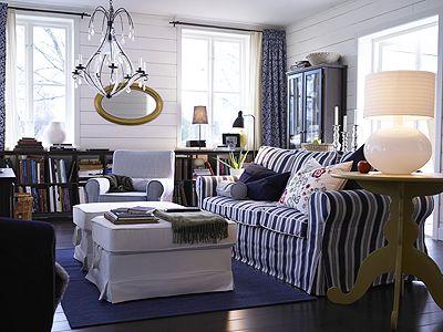 wohnzimmer schwedenstil | häuslebauer | pinterest | wohnen und ... - Wohnzimmer Blau Weis