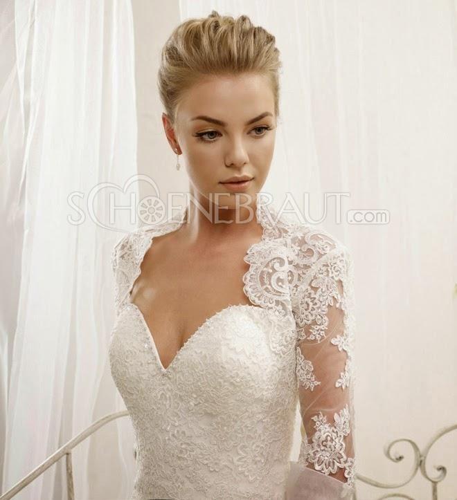 Meerjungfrau Brautkleider mit Balero Trägerlos Hochzeitskleider mit ...