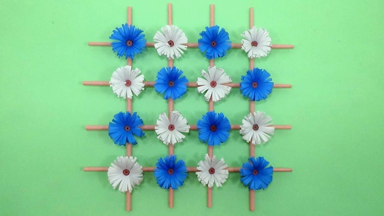 How To Make Paper Flower Wall Hanging Decor Diy Wall Decoration