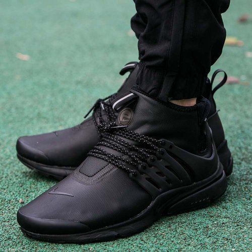 Nike Air Presto Utility Mid Mens Shoes Black/Black 859524-003