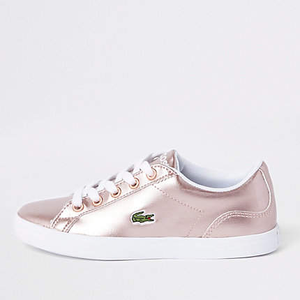 River Island Girls Lacoste pink lace up