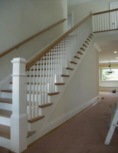 Best This Cut String Staircase Uses A Large Craftsman Newel 400 x 300