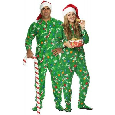 84222de07381 Snug As A Bug Adult Snowflake Glow-in-the-Dark Footed Pajama in many ...