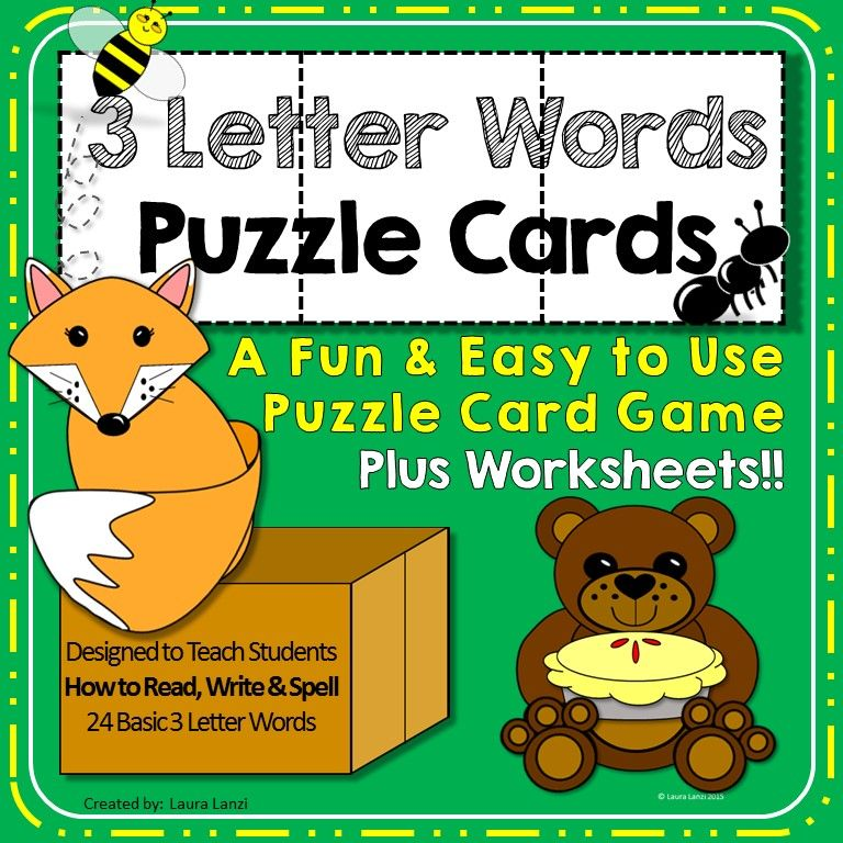 3 Letter Words Puzzles Worksheets Students And Language Arts