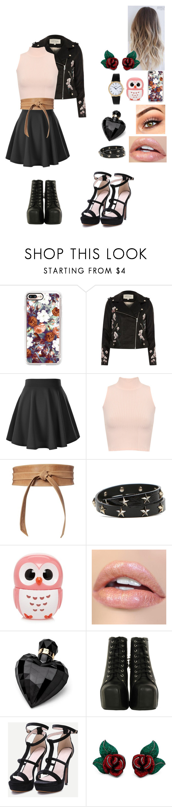 """""""girl of city"""" by krystal-av on Polyvore featuring Casetify, River Island, WearAll, Brave, RED Valentino, Forever 21, Patek Philippe, Lipsy and Jeffrey Campbell"""