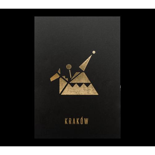 pocztówka czarna lajkonik
