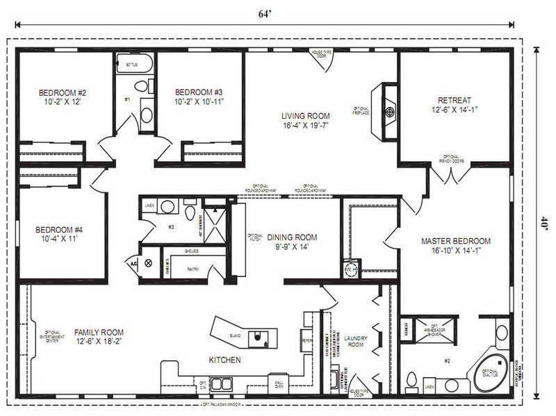 Modular home floor plans modular home floor plans master for Double master suite floor plans