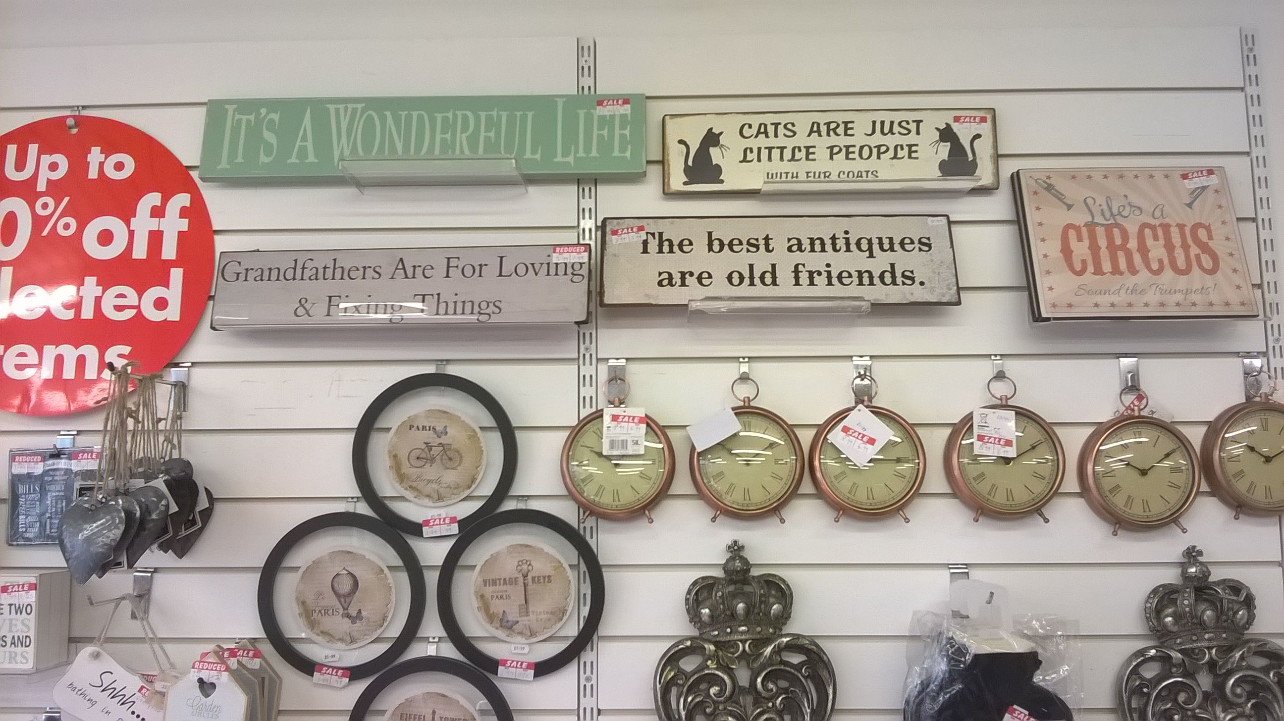 Gorgeous wall signs and plaques in the P.D.S.A London Road, Brighton.