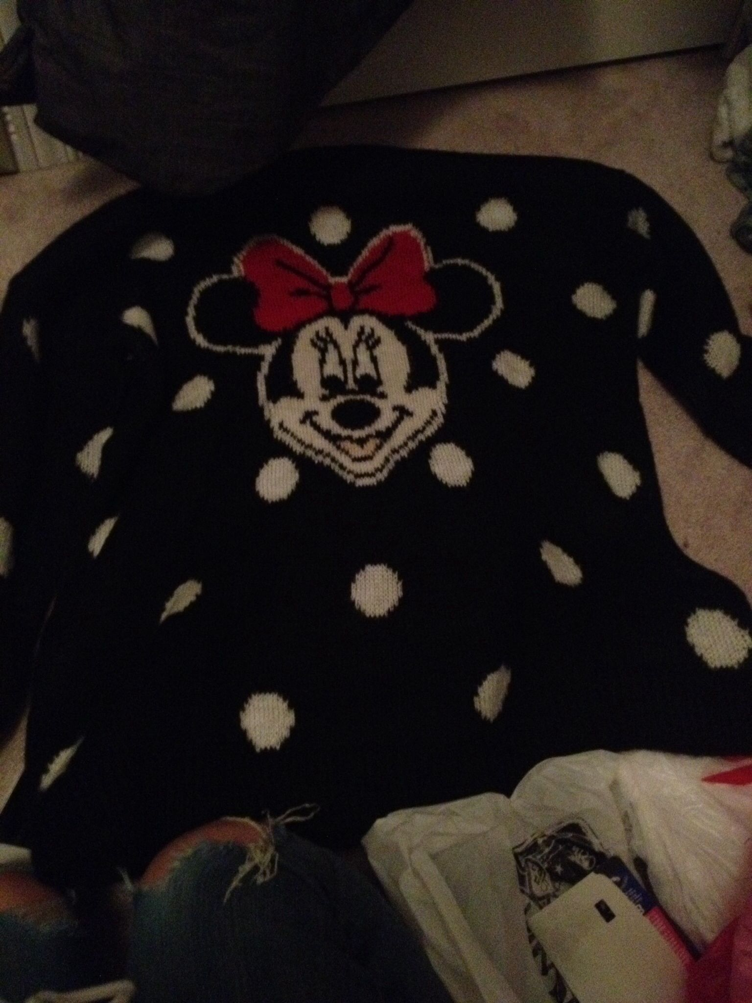 Minnie Mouse sweater!!!
