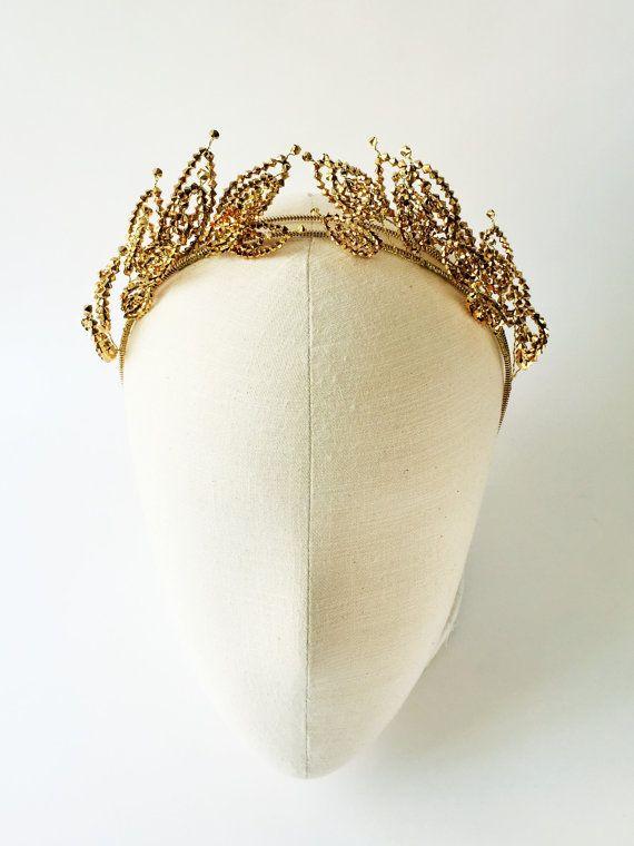 Modern Greek olive headband Greek hair accessories Gold hair 4dfd27e9cb9