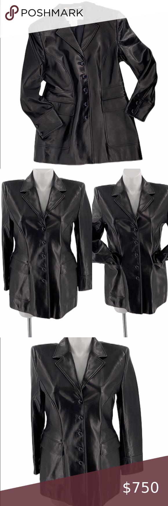 Escada Black Leather Jacket Large 44 Has Pockets Escada Leather Coat Jacket Black Soft Supple Excellent Pre Leather Jacket Black Leather Coat Escada Jacket [ 1740 x 580 Pixel ]