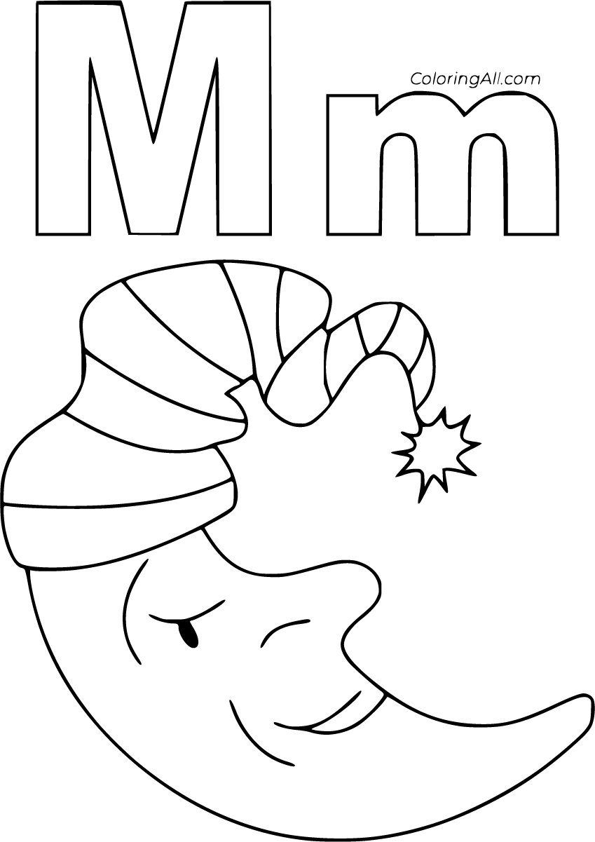 27 Free Printable Letter M Coloring Pages In Vector Format Easy To Print From Any Device And Automatically Fi Coloring Pages Alphabet Coloring Pages Lettering [ 1201 x 849 Pixel ]