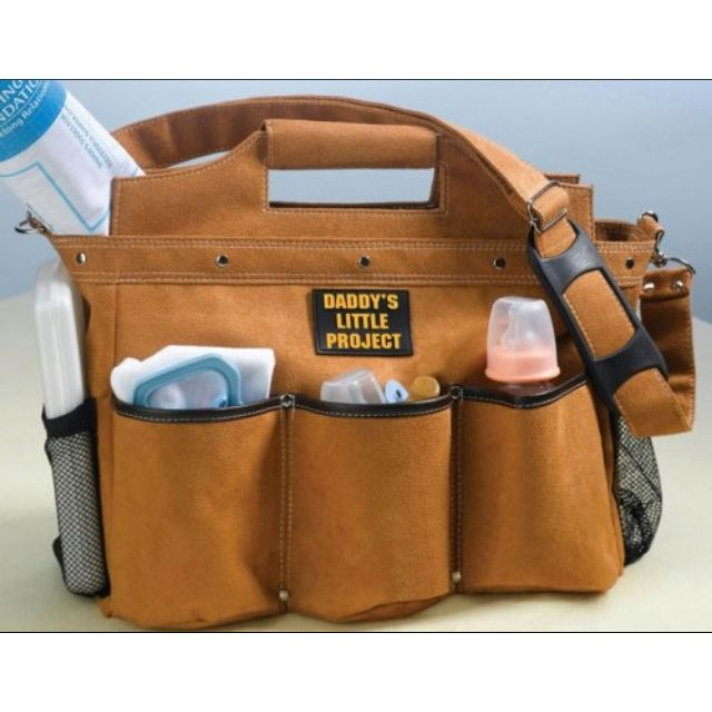 My husband does construction, this would d pretty fun diaper bag for him!  http://www.for-baby-showers.com/product/dads-tool-belt-diaper-bag/