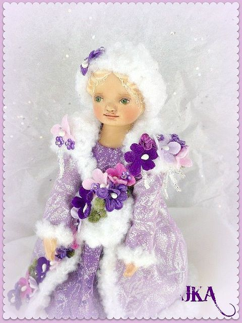 """Winter Hitty Outfit-""""Violets in the Snow"""" by Jenny Anderson"""