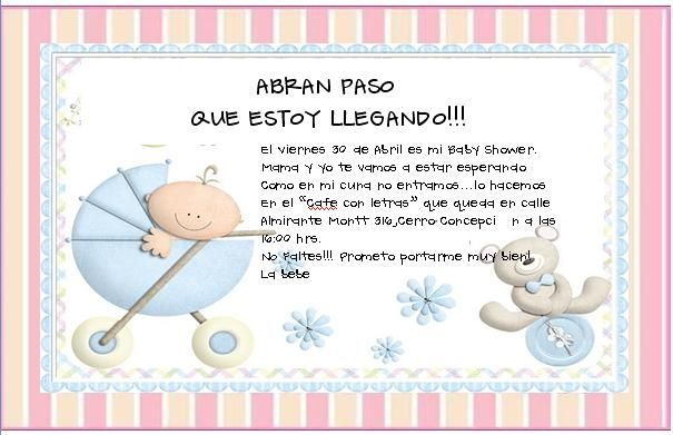 INVITACION BABY SHOWER