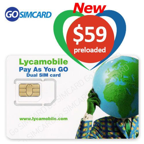 Lyca Mobile USA Prepaid Sim Card with $59 Plan for 1 Months