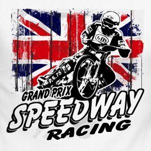 UK Speedway - Vintage Union Jack Long sleeve shirts - Men's Long Sleeve Baseball T-Shirt
