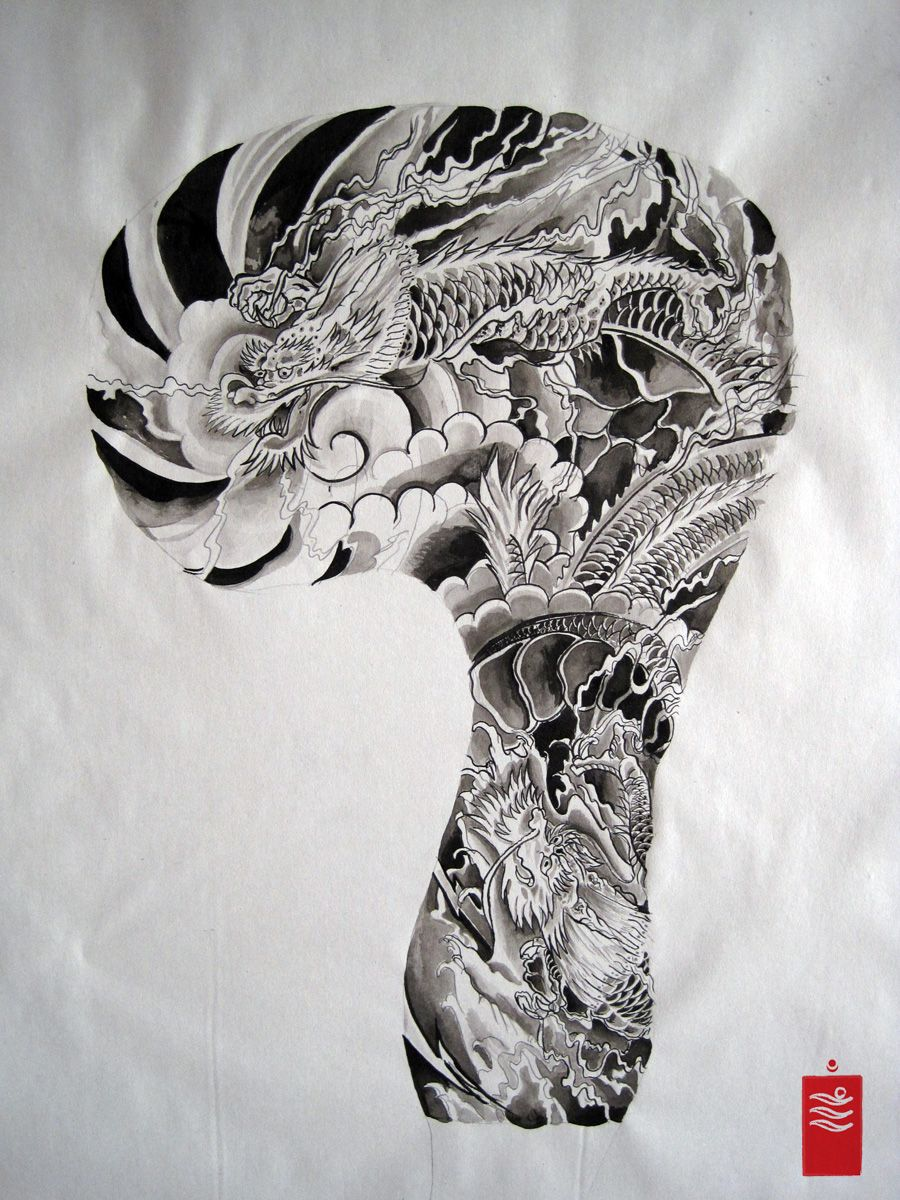 japanese dragon tattoo sleeve google search tattoo. Black Bedroom Furniture Sets. Home Design Ideas