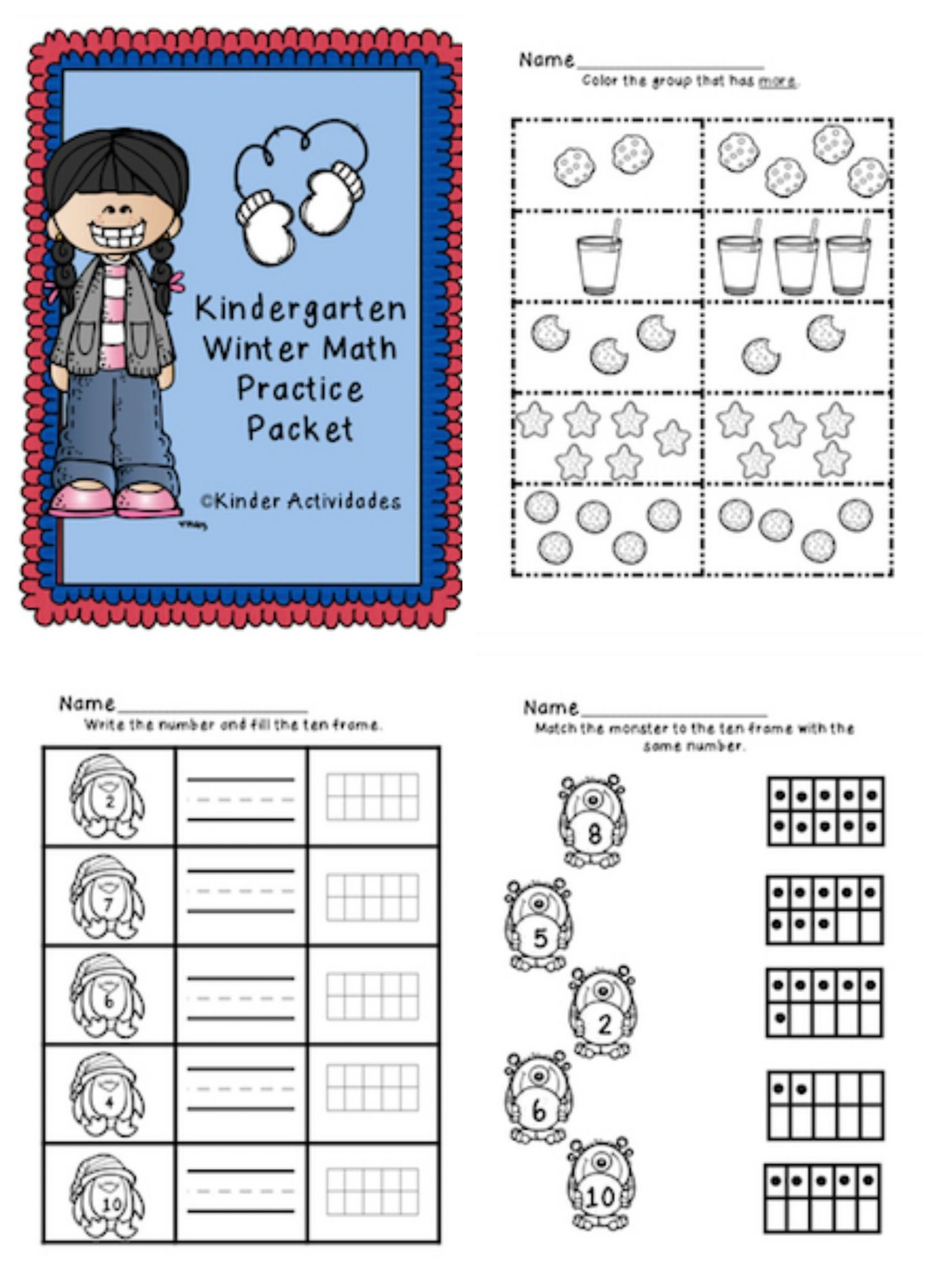 Free Remote Learning Winter Math Amp Numbers Packet