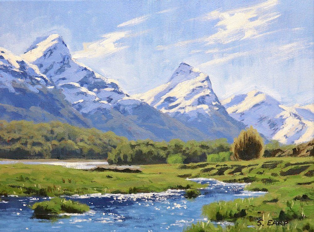 How To Paint Mountains In Five Easy Steps Easy Landscape Paintings Landscape Paintings Mountain Landscape