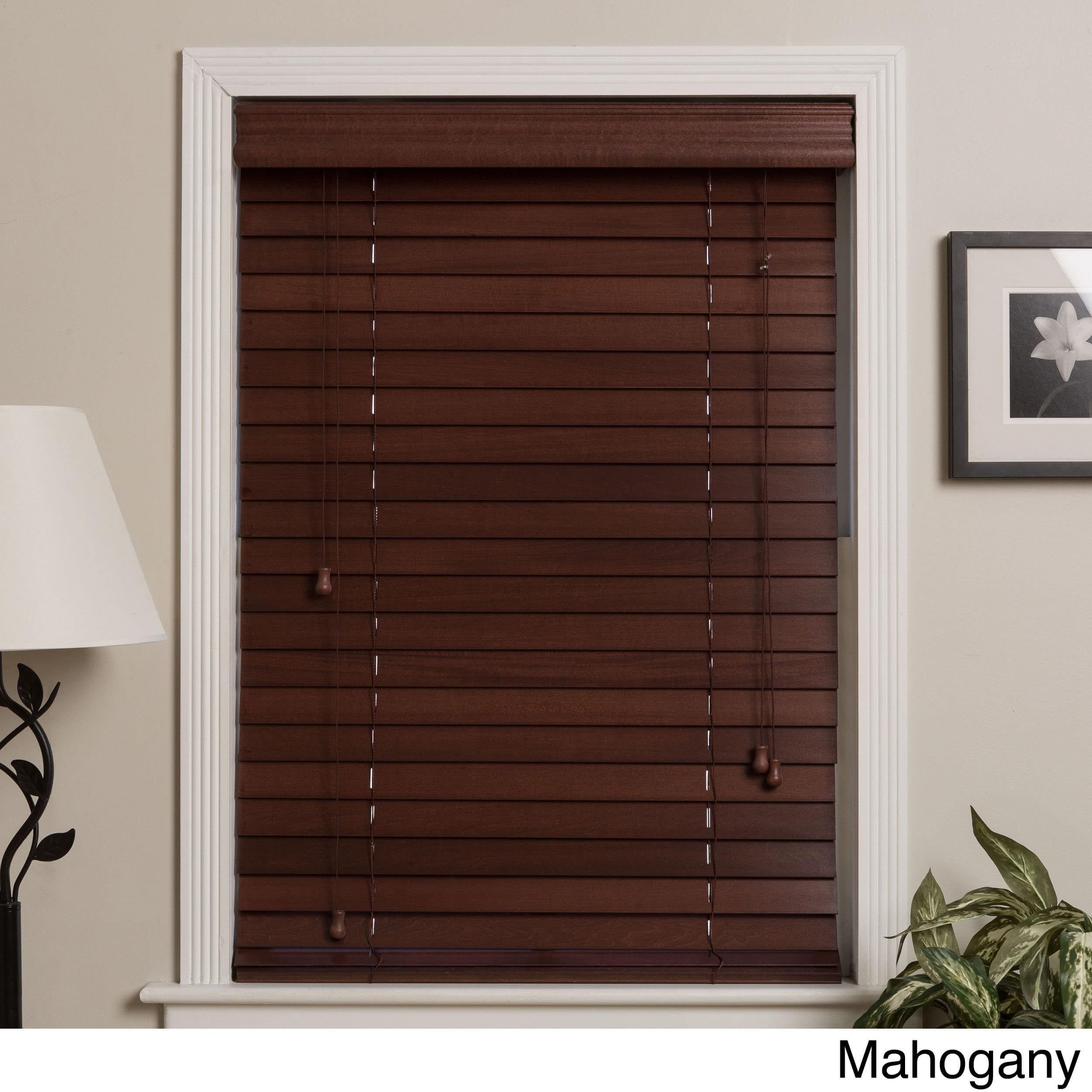 Arlo Blinds Customized Real Wood 58 Inch Window Blinds (Mahogany (Brown)