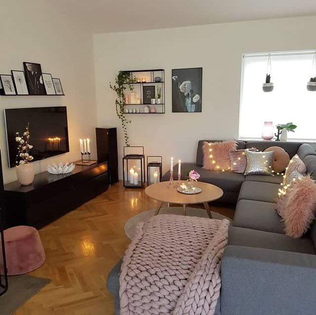 title | Pink Black Silver Gold Living Room Decor