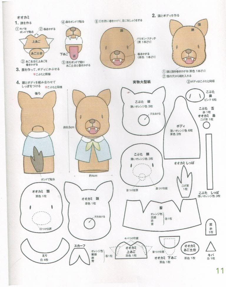 Sewing miles of smiles three little pigs finger for Pig puppet template