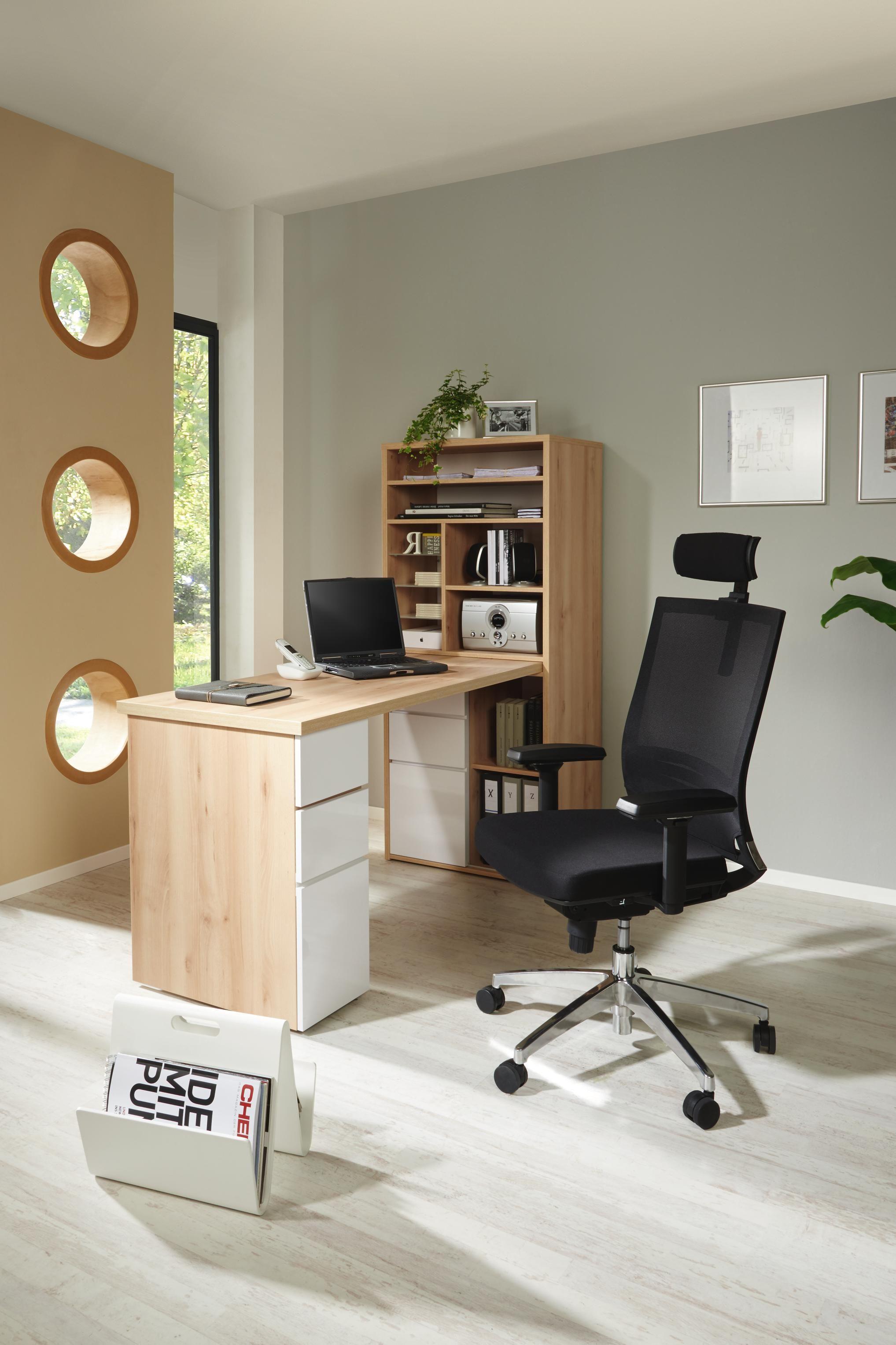 Für Ihr kleines Büro Schreibtisch und Aktenschrank in einem