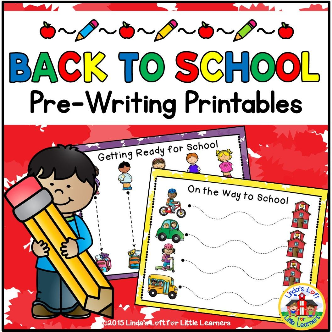 Back To School Pre Writing Printables