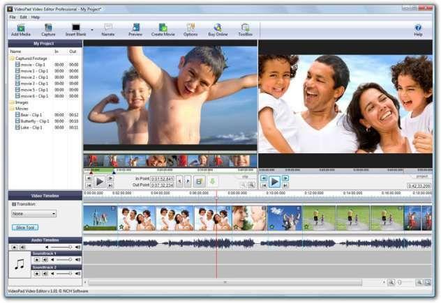 nch video editing