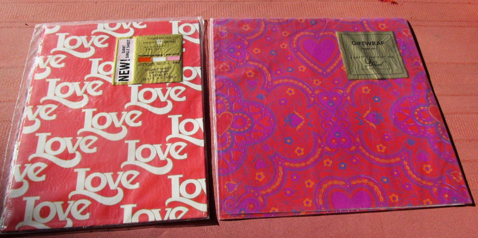Vintage mid century 1960s valentine gift wrap american greetings vintage mid century 1960s valentine gift wrap american greetings forget me not love laurel m4hsunfo