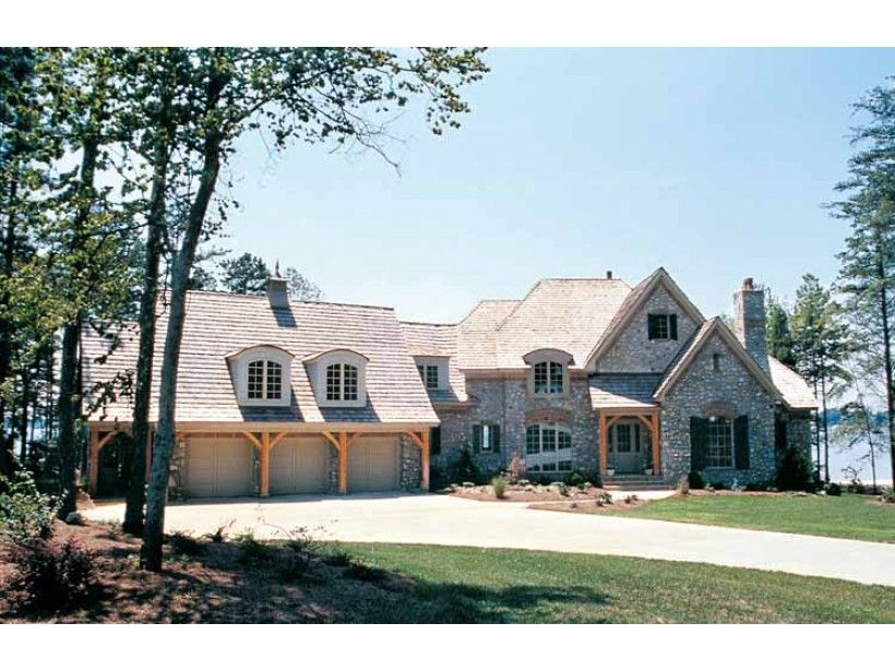 Eplans French Country House Plan - French-Style Stone Exterior