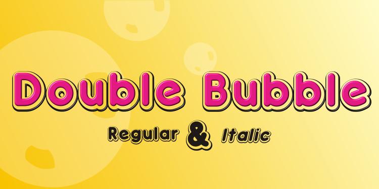 Double Bubble | dafont.com