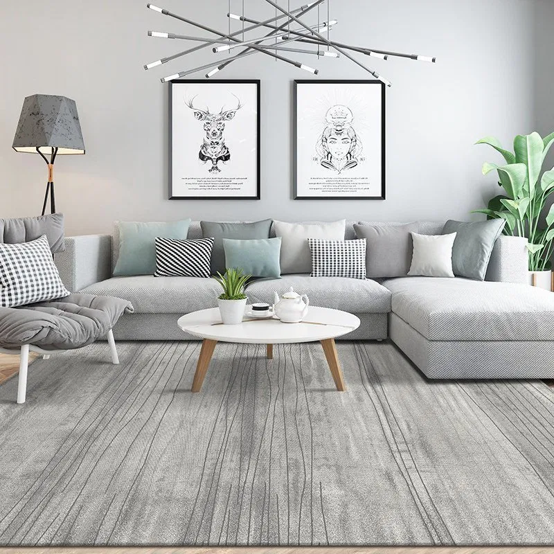 Photo of Living Room Contemporary Grey Rugs – Warmly Home