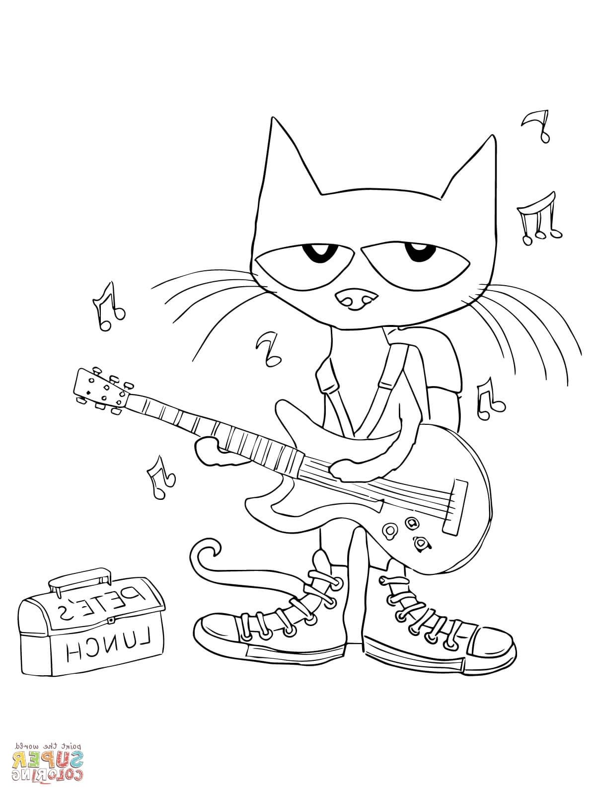Pete The Cat Coloring Cat Coloring Page Coloring Pages Cat Colors