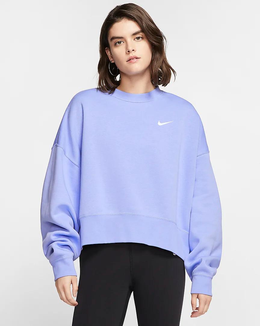 Nike Sportswear Essential Women S Fleece Crew Nike Com Nike Hoodies For Women Nike Women Sweatshirt Crewneck Sweatshirt Women [ 1080 x 864 Pixel ]