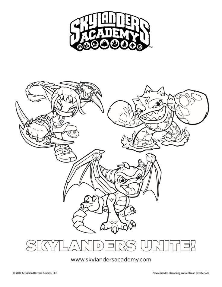 Free Skylanders Unite Printable Coloring Page Coloring Pages For Kids Printable Coloring Pages Coloring Pages To Print