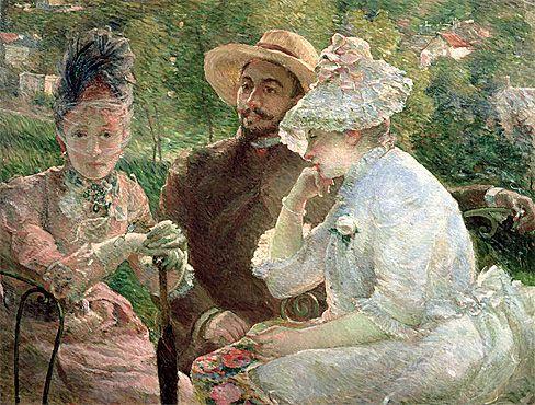 La terrasse de la villa Brancas à Sèvres, 1880, Marie Bracquemond