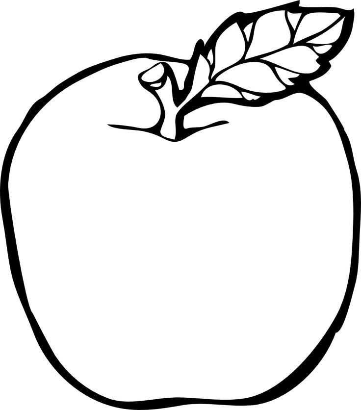 Free Black And White Clipart For Teachers Http Cliparts Co Apple Coloring Pages Apple Clip Art Fruit Coloring Pages