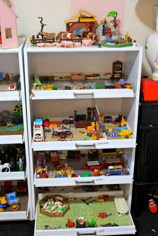 Idée Rangement Playmobil diy mobile | diy mobile shelves as small playgrounds for your kids