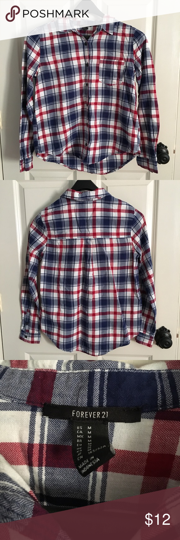 Off white red flannel shirt  Red White u Blue Flannel  Flannels Red white blue and Forever  red