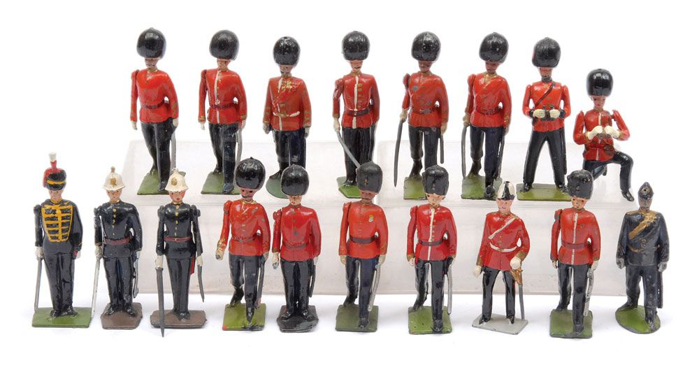 Britains PrePost War Issues Officers On Foot | Vectis