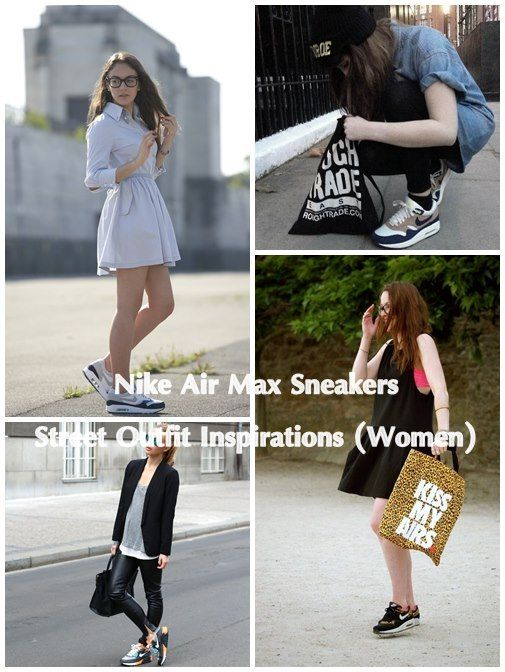 best authentic 8f1d0 6765f Nike Air Max Sneakers Street Outfit Inspirations (Women) read more http