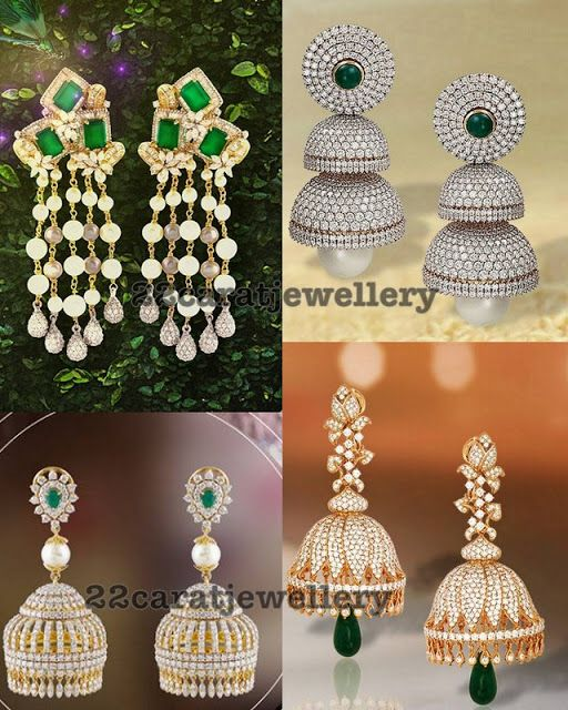 60dd6cade Indian Jewellery Design, Jewellery Designs, Jewelry Patterns, Jhumka  Designs, Diamond Jumkas,